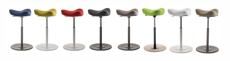 Lo sgabello ergonomico move ha una base leggermente - Sgabello ergonomico ikea ...